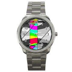 Colors Fadeout Paintwork Abstract Sport Metal Watch
