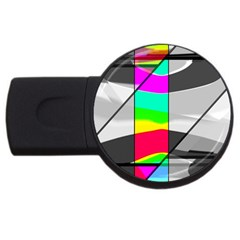 Colors Fadeout Paintwork Abstract USB Flash Drive Round (4 GB)