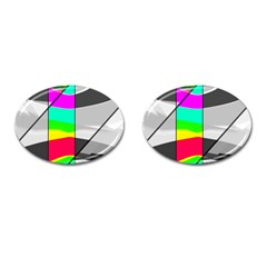 Colors Fadeout Paintwork Abstract Cufflinks (Oval)