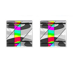Colors Fadeout Paintwork Abstract Cufflinks (square)