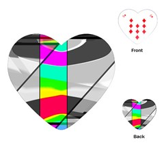 Colors Fadeout Paintwork Abstract Playing Cards (heart)