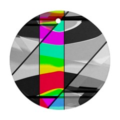 Colors Fadeout Paintwork Abstract Round Ornament (two Sides)