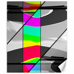 Colors Fadeout Paintwork Abstract Canvas 8  x 10