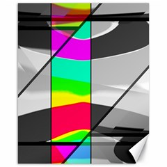 Colors Fadeout Paintwork Abstract Canvas 16  X 20