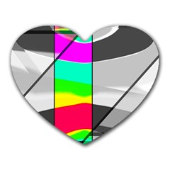 Colors Fadeout Paintwork Abstract Heart Mousepads