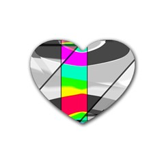 Colors Fadeout Paintwork Abstract Rubber Coaster (heart)
