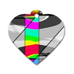 Colors Fadeout Paintwork Abstract Dog Tag Heart (Two Sides)