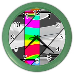Colors Fadeout Paintwork Abstract Color Wall Clocks
