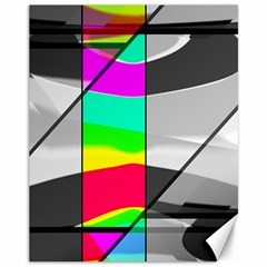 Colors Fadeout Paintwork Abstract Canvas 11  X 14