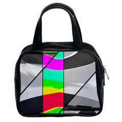 Colors Fadeout Paintwork Abstract Classic Handbags (2 Sides)