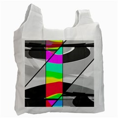 Colors Fadeout Paintwork Abstract Recycle Bag (Two Side)