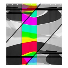 Colors Fadeout Paintwork Abstract Shower Curtain 66  x 72  (Large)
