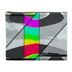 Colors Fadeout Paintwork Abstract Cosmetic Bag (XL)