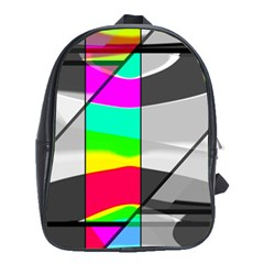 Colors Fadeout Paintwork Abstract School Bags(large)