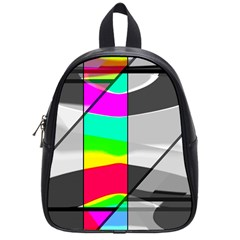 Colors Fadeout Paintwork Abstract School Bags (Small)
