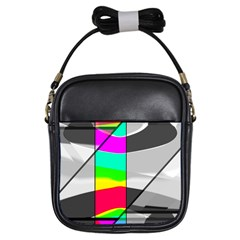 Colors Fadeout Paintwork Abstract Girls Sling Bags