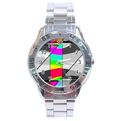 Colors Fadeout Paintwork Abstract Stainless Steel Analogue Watch
