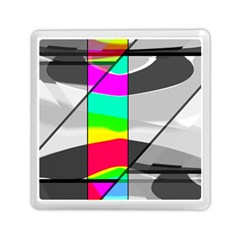 Colors Fadeout Paintwork Abstract Memory Card Reader (Square)