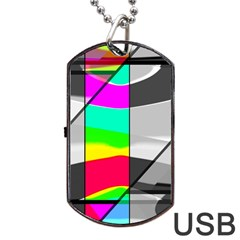 Colors Fadeout Paintwork Abstract Dog Tag USB Flash (One Side)