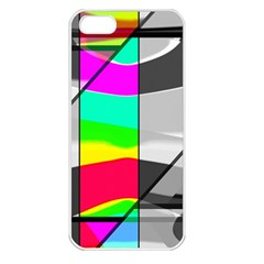 Colors Fadeout Paintwork Abstract Apple iPhone 5 Seamless Case (White)