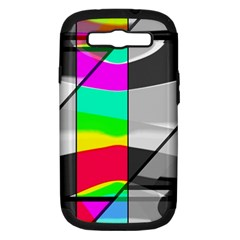 Colors Fadeout Paintwork Abstract Samsung Galaxy S Iii Hardshell Case (pc+silicone)