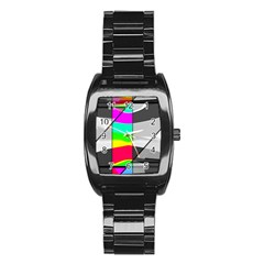 Colors Fadeout Paintwork Abstract Stainless Steel Barrel Watch