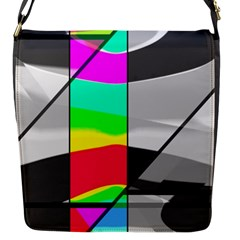 Colors Fadeout Paintwork Abstract Flap Messenger Bag (s)