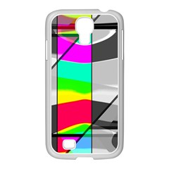 Colors Fadeout Paintwork Abstract Samsung GALAXY S4 I9500/ I9505 Case (White)
