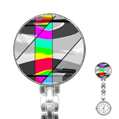 Colors Fadeout Paintwork Abstract Stainless Steel Nurses Watch