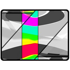Colors Fadeout Paintwork Abstract Double Sided Fleece Blanket (Large)