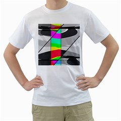 Colors Fadeout Paintwork Abstract Men s T-Shirt (White)