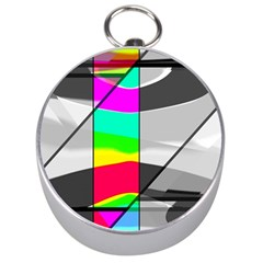 Colors Fadeout Paintwork Abstract Silver Compasses