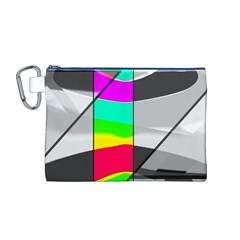 Colors Fadeout Paintwork Abstract Canvas Cosmetic Bag (M)