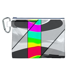 Colors Fadeout Paintwork Abstract Canvas Cosmetic Bag (L)
