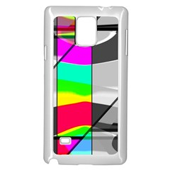 Colors Fadeout Paintwork Abstract Samsung Galaxy Note 4 Case (White)