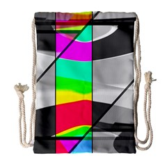 Colors Fadeout Paintwork Abstract Drawstring Bag (large)
