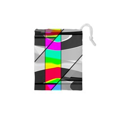 Colors Fadeout Paintwork Abstract Drawstring Pouches (xs)