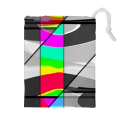 Colors Fadeout Paintwork Abstract Drawstring Pouches (Extra Large)