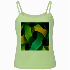 Ribbons Of Blue Aqua Green And Orange Woven Into A Curved Shape Form This Background Green Spaghetti Tank