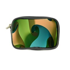 Ribbons Of Blue Aqua Green And Orange Woven Into A Curved Shape Form This Background Coin Purse