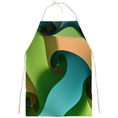 Ribbons Of Blue Aqua Green And Orange Woven Into A Curved Shape Form This Background Full Print Aprons