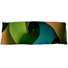 Ribbons Of Blue Aqua Green And Orange Woven Into A Curved Shape Form This Background Body Pillow Case (dakimakura)