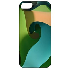 Ribbons Of Blue Aqua Green And Orange Woven Into A Curved Shape Form This Background Apple iPhone 5 Classic Hardshell Case