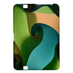 Ribbons Of Blue Aqua Green And Orange Woven Into A Curved Shape Form This Background Kindle Fire Hd 8 9