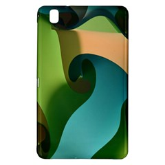 Ribbons Of Blue Aqua Green And Orange Woven Into A Curved Shape Form This Background Samsung Galaxy Tab Pro 8 4 Hardshell Case