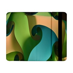 Ribbons Of Blue Aqua Green And Orange Woven Into A Curved Shape Form This Background Samsung Galaxy Tab Pro 8 4  Flip Case