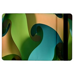 Ribbons Of Blue Aqua Green And Orange Woven Into A Curved Shape Form This Background Ipad Air 2 Flip