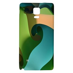 Ribbons Of Blue Aqua Green And Orange Woven Into A Curved Shape Form This Background Galaxy Note 4 Back Case