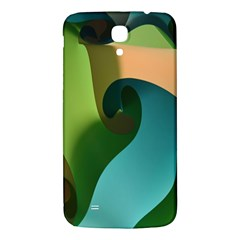 Ribbons Of Blue Aqua Green And Orange Woven Into A Curved Shape Form This Background Samsung Galaxy Mega I9200 Hardshell Back Case