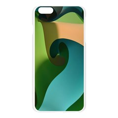 Ribbons Of Blue Aqua Green And Orange Woven Into A Curved Shape Form This Background Apple Seamless iPhone 6 Plus/6S Plus Case (Transparent)
